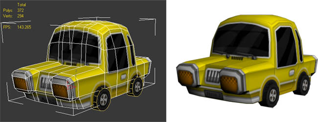 lowpoly-taxi